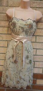 Mini-Vestido-Sujetador-Acolchado-Con-Tiras-Floral-Top-largo-con-Cinturon-De-Lentejuelas-Fiesta-Blusa