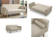 vintage fabric sofa bed beige 3 seater wooden couch living room furniture futon pro cosmo kids sofa bed 3 in 1 futon childs furniture   ebay  rh   ebay co uk