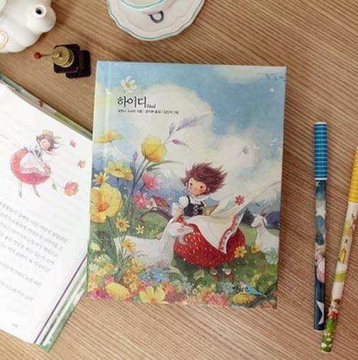 Heidi by Johanna Spyri Unique Illustration Cute Hard Cover Korean Story Book