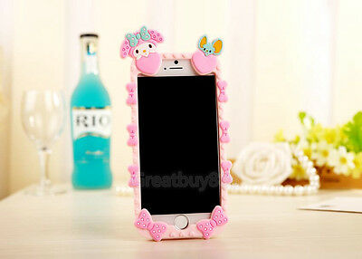 """New 3D Cute My Melody Hello Kitty Soft Silicone Case Cover for iPhone 6 4.7"""" 5S"""