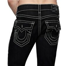 True Religion Men S Super T Skinny Grey Stitch Jeans In Hidden Midnight Ebay