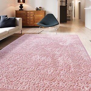 teppich vintage design rosa f r wohnzimmer hochwertig modern auch in oval neu ebay. Black Bedroom Furniture Sets. Home Design Ideas