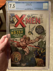 The-X-Men-10-1st-Silver-Age-Ka-Zar-amp-Savage-Land-CGC-7-5-OW-W