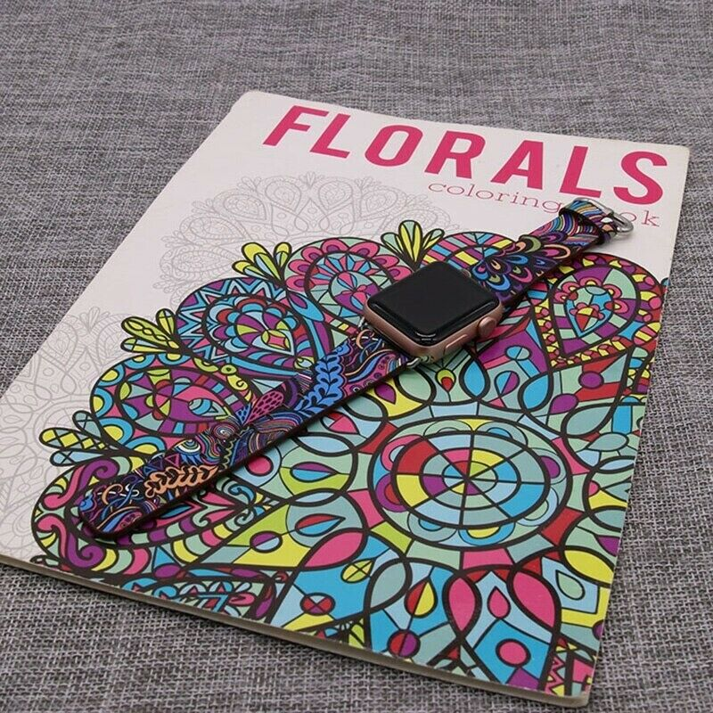 iwatch: Floral Apple Watch Strap Compatible With Apple Watch 6 SE 5 4 3 iWatch Band