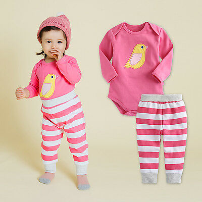 "Vaenait Baby Infant Toddler Girls One-pieces Bodysuit Outfit /""Viva Bird/"" 6-18M"