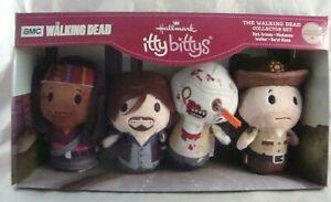 Walking-Dead-Collector-Set-Hallmark-itty-bittys-Daryl-Rick-Michonne-Walker-New