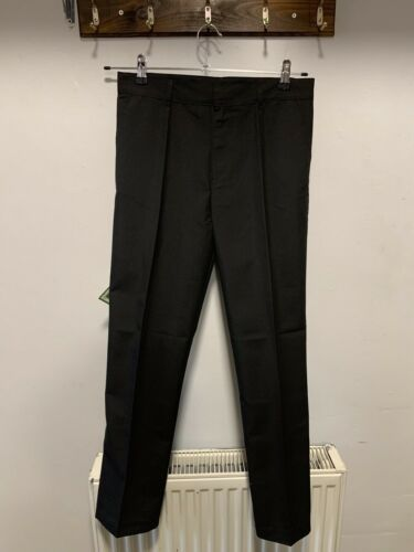 F/&F Black Boys School Trousers Size 13-14 Years New With Tags Adjustable Waist