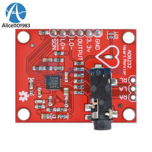 Single Lead AD8232 Double Poles Pulse Heart Rate Monitor ECG Sensor Module Kit