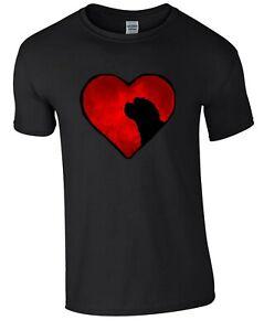 Black T-shirt, Cockapoo in Heart Design Tshirt Dog Tee Shirt Cockerpoo Xmas Gift