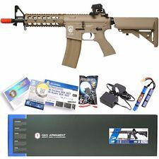 G&G TAN Airsoft M16 M4 M4A1 RIS Raider Shorty AEG Rifle Gun W/ Battery Charger