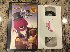BARNEY'S TALENT SHOW RARE OOP VHS! NOT ON DVD! 1996 CHILDRENS EDUCATIONAL PBS!