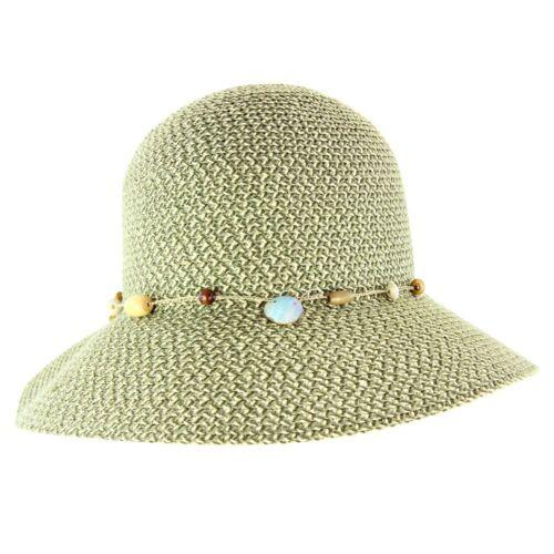 Cancer Council Ladies Bohemian Bucket Hat Pistachio Fleck