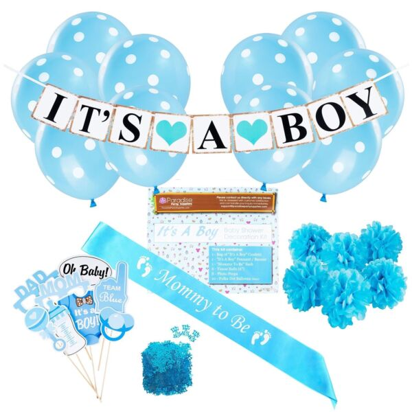 Buy Baby Shower Party Decorations Kit It's a Boy Blue ...