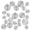 30 PCs 3 Sizes Silver Plated Stone Holder JIALEEY Spiral Bead Cages Pendants