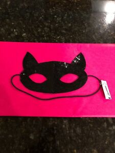 American-Eagle-Outfitters-Black-Sequin-Cat-Mask-NWT