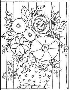 RUG-HOOKING-CRAFT-PAPER-PATTERN-Prim-Floral-FOLK-ART-PRIMITIVE-Karla-Gerard