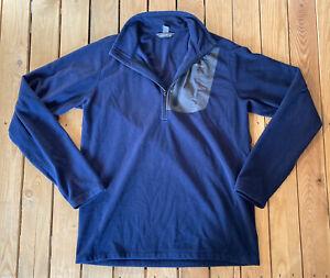 Eddie-Bauer-Men-s-Long-Sleeve-half-Zip-Fleece-Pullover-Size-LT-In-Blue-G9