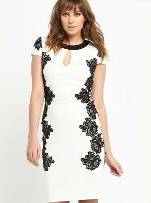 Shirt Dress Size 18 Black Lace So Fabulous Monochrome  BNWT
