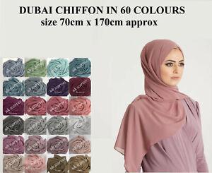 High-Quality-Plain-Chiffon-Hijab-Scarf-Shawl-Wrap-Soft-Georgette-Dubai-Elegant