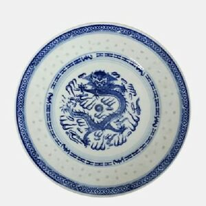 Image is loading Set-of-6-Medium-Oriental-Chinese-Porcelain-Dinner- & Set of 6 Medium Oriental Chinese Porcelain Dinner Plates Blue Dragon ...
