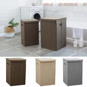 Fabric-Laundry-Basket-Folding-Bin-Hamper-Washing-Clothes-Storage-Bag-Lightweight