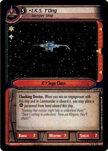 Sleeper Ship 10U116 T/'Ong Star Trek CCG 2E Captain/'s Log I.K.S