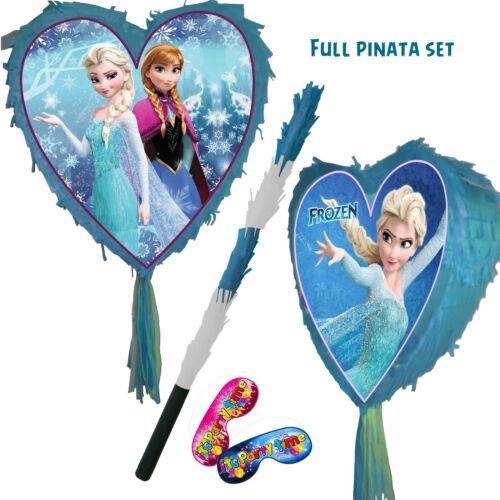 Frozen Heart Pinata Smash Party Stick Disney Princess anna elsa olaf Love Sky UK