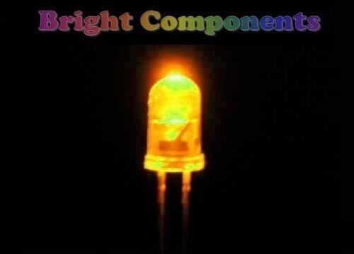Ultra Bright 10 x Yellow LED 5mm 1st CLASS POST