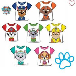 Boys-Girls-Paw-Patrol-Top-T-shirt-Tee-Everest-Chase-Rocky-Gift