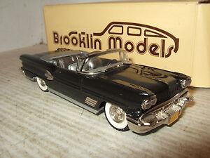 Modèles Brooklin, Brk25 1958 Pontiac Bonneville, modèle en métal blanc à l'échelle 1:43