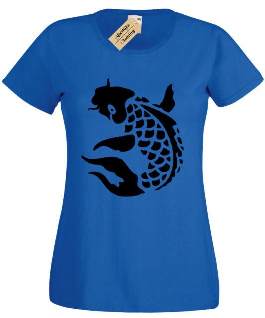 Carp Womens T-Shirt Fishing FISHERMAN ANGLING CLOTHING KOI CAMO ladies