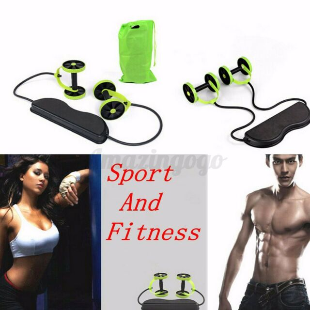 Home Gym Abs Equipment Exercise Body Fitness Abdominal Training Workout Roller