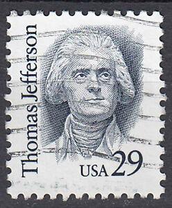 USA-Briefmarke-gestempelt-29c-Thomas-Jefferson-1400