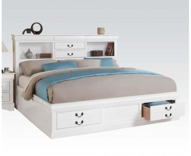 Cal King Size Storage Head Footboard, Cal King Storage Bed