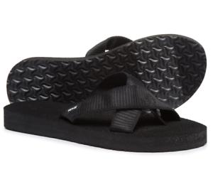 VINCE CAMUTO Womens Black Gold Signature Medallion Flip Flops Fashion Sandals