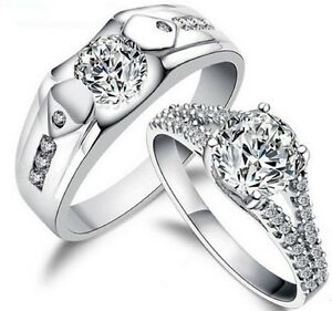 His-and-Hers-Sterling-Silver-Promise-Rings-Wedding-Rings