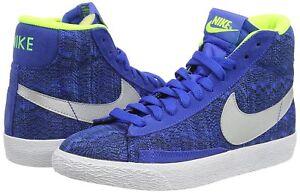 bc9ebffb1f Nike Blazer Mid Vintage (Gs) Blue Textile Boys Girls Trainers Shoes ...