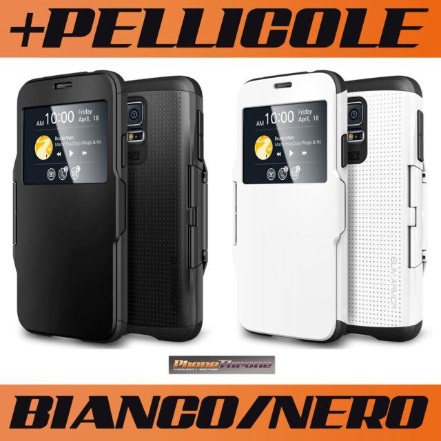 Cover Custodia Flip S-View per Samsung Galaxy S5 G900 I9600 + Pellicola Case TPU