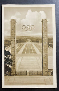 1936 Berlin Germany RPPC Real Picture Postcard Cover Olympic Camp View