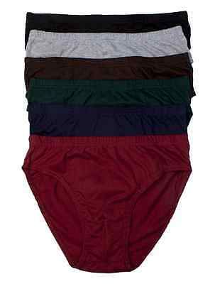 3, 6, 12 Mens Double Front Plain Bikinis Brief 100% Cotton Lined Knocker M705P