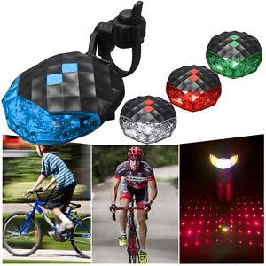 5-LED-2-Laser-Cycling-Bike-Bicycle-Rear-Tail-Safety-Warning-Flashing-Lamp-Light