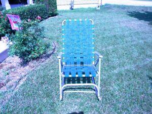High Back Folding Lawn Chairs.Details About Vtg Aluminum Webbed Folding Rocking Lawn Chair High Back Rocker Green Webbing