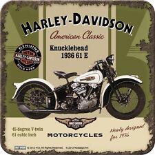 NOSTALGIE UNTERSETZER Harley Davidson KNUCKLEHEAD Logo Motorrad f.Glas/Tasse NEU