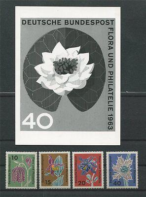 E103 Proof Rare Aus Dem Ausland Importiert Brd Foto-essay 392/395 Flora 1963 Seerose Unverausgabter Wert