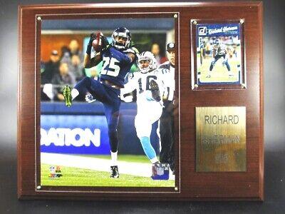 Hilfreich Richard Sherman Seattle Seahawks Holz Wandbild 38cm,plaque Wall Pic Nfl Football