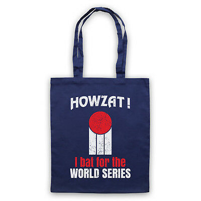 HOWZAT I BAT FOR THE WORLD SERIES AS WORN DENNIS LILLEE SHOULDER TOTE SHOP BAG