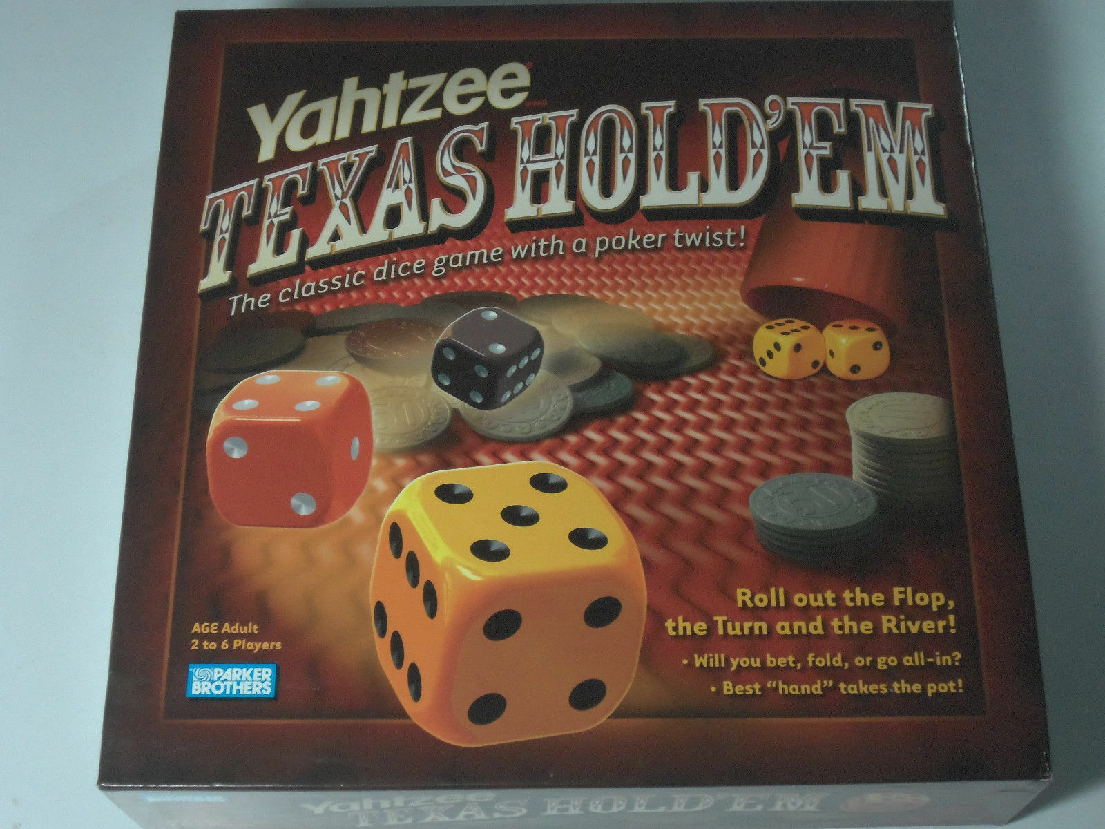 GAME  Yahtzee Texas Hold'em Game 2004 Classic Dice-Poker Game Collectible MIB