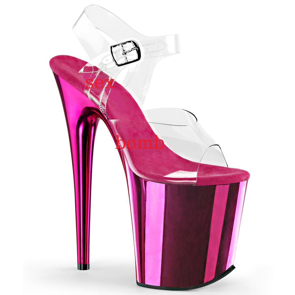 SEXY SANDALI tacco 20 plateau rosado ACCESO TRASPARENTE TRASPARENTE TRASPARENTE dal 35 al 42 club GLAMOUR  Ahorre hasta un 70% de descuento.