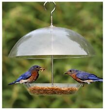 Clear Covered Dome Bird Seed Feeder For Small Birds - Keeps Big Birds Out BFDOME