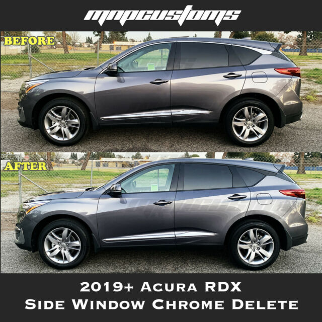 Present Acura RDX Side Window Chrome Trim Delete